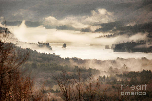 Wall Art - Photograph - Foggy Reservoir by HD Connelly