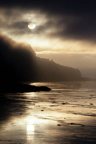 Wall Art - Photograph - Foggy Sunset Over Turnagain Arm by Doug Lindstrand