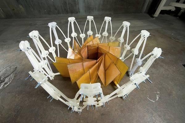 Jet Propulsion Laboratory Photograph - Foldable Solar Panel Array by Nasa/jpl-caltech/byu