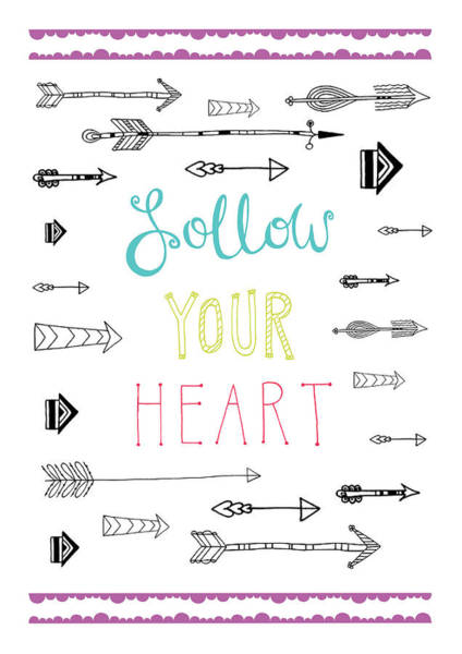 Arrow Photograph - Follow Your Heart by MGL Meiklejohn Graphics Licensing