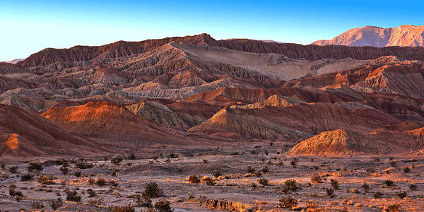 Desert Sunset Photograph - Font's Point by Peter Tellone