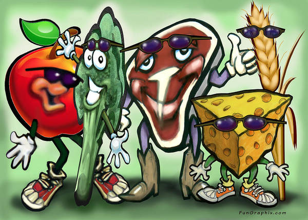 Protein Painting - Food Groups Party by Kevin Middleton
