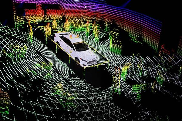 Detroit Auto Show Photograph - Ford Autonomous Drive Vehicle by Jim West