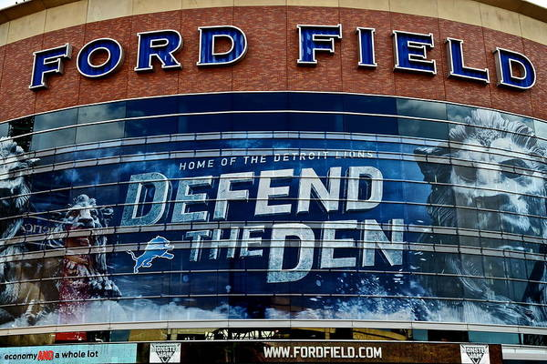 Detroit Lions Photograph - Ford Field by Frozen in Time Fine Art Photography