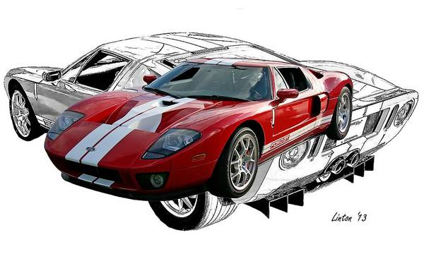 Photograph - Ford Gt 2 by Larry Linton
