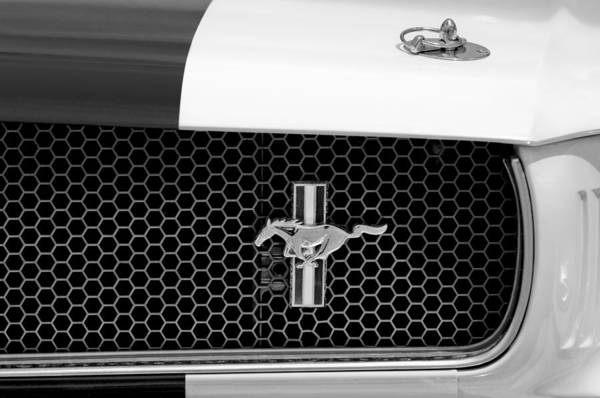 Photograph - Ford Mustang Gt 350 Grille Emblem by Jill Reger