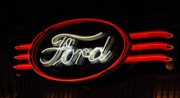 Neon Photograph - Ford Neon Sign by Jill Reger