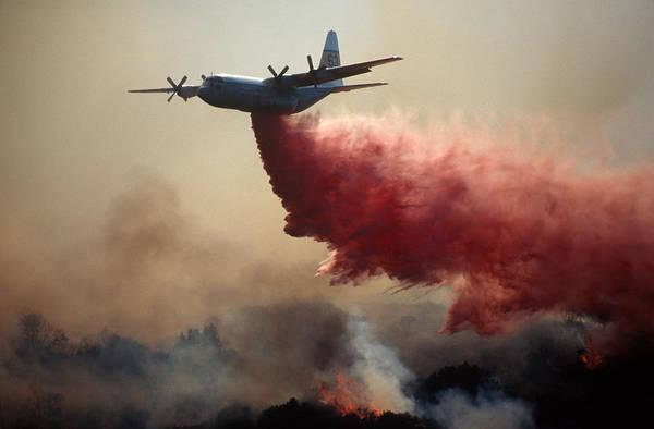 C 130 Photograph - Forest Fire by Richard Hansen