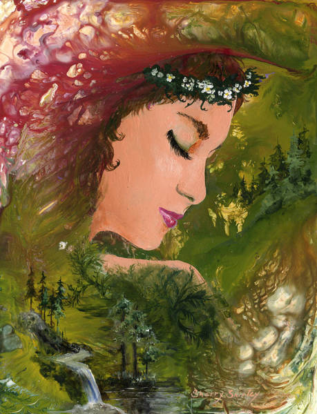 Painting - Forest Girl by Sherry Shipley
