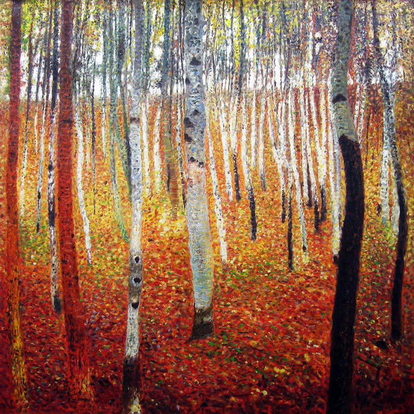 Wall Art - Painting - Forest Of Beech Trees by Gustav Klimt