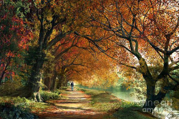 Woodland Digital Art - Forever Autumn by Dominic Davison