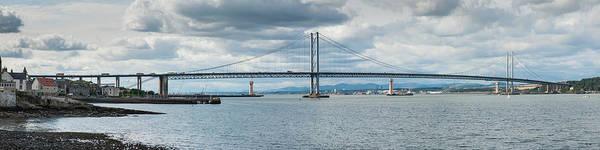 Photograph - Forth Road Bridge Panorama by Gary Eason