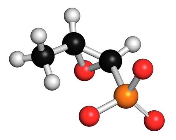 Pharma Wall Art - Photograph - Fosfomycin Antibacterial Drug Molecule by Molekuul