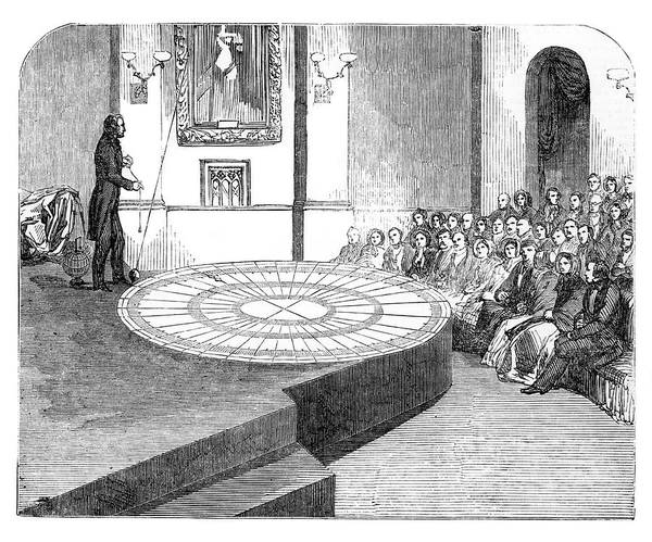 1851 Photograph - Foucault's Pendulum Lecture by Royal Astronomical Society/science Photo Library