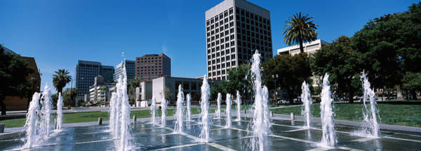 Silicon Valley Wall Art - Photograph - Fountain In A Park, Plaza De Cesar by Panoramic Images