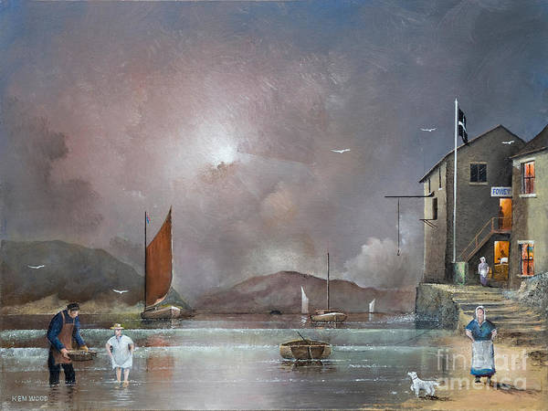 Painting - Fowey - Cornwall by Ken Wood
