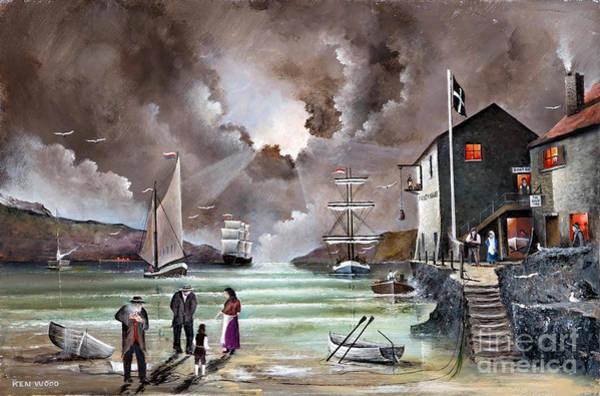 Painting - Fowey Whalf by Ken Wood