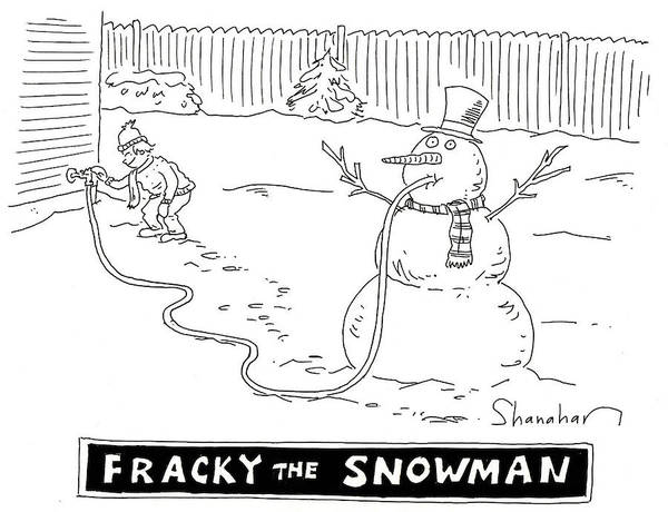 Scarf Drawing - Fracky The Snowman by Danny Shanahan