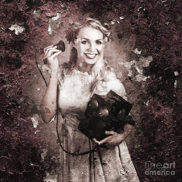 Wall Art - Photograph - Fragmented Vintage Female Telephone Operator by Jorgo Photography - Wall Art Gallery