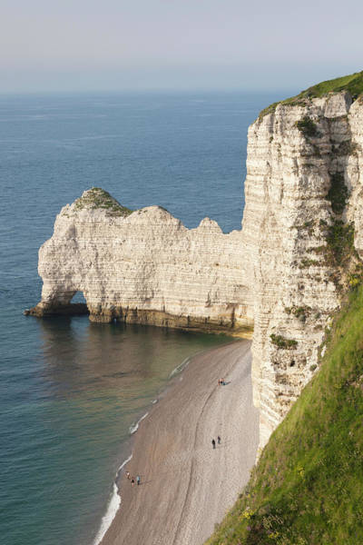 Alabaster Photograph - France, Normandy, Etretat, Elevated by Walter Bibikow