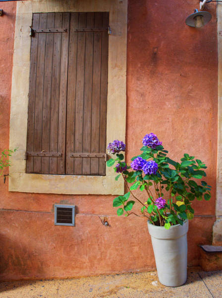 Wall Art - Photograph - France, Provence, Roussillon, Town by Terry Eggers