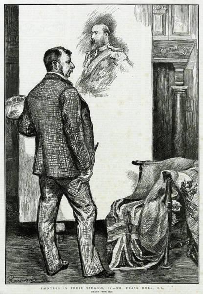 Wall Art - Drawing - Frank Holl  English Artist by  Illustrated London News Ltd/Mar