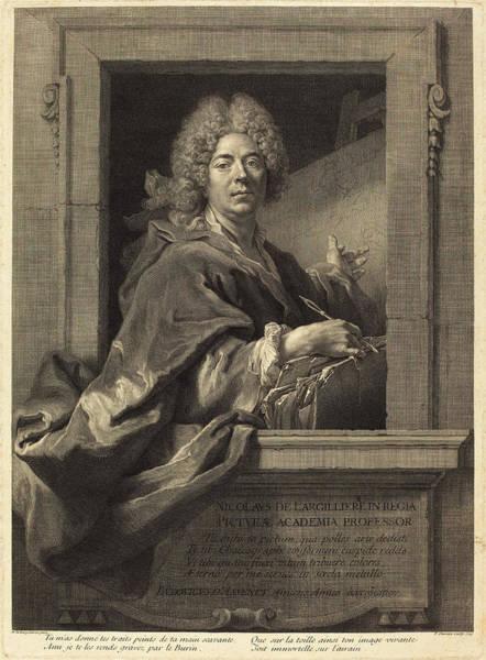 1715 Drawing - François Chereau I After Nicolas De Largillierre French by Quint Lox