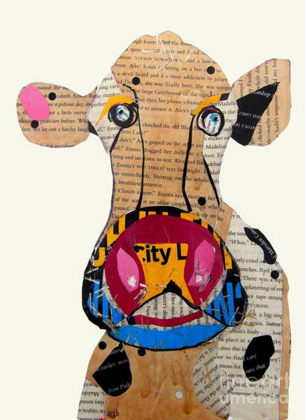 Mixed Media Collage Wall Art - Painting - Frazer by Bri Buckley