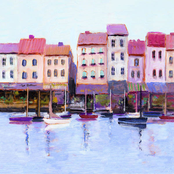Painting - French Harbor by J Reifsnyder