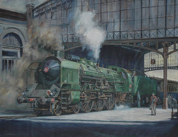 Railroad Station Painting - French Pacific. by Mike Jeffries