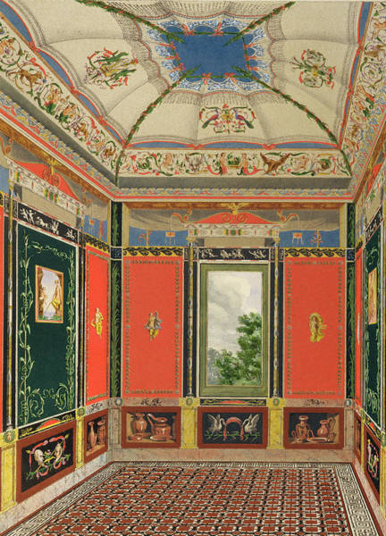 Tile Drawing - Fresco Decoration In The Summer House by English School