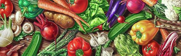 Wall Art - Photograph - Fresh Fruit And Vegetables by Leonello Calvetti/science Photo Library