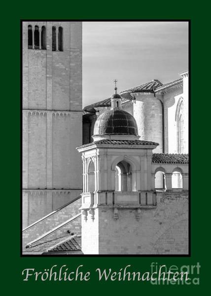 Weihnachten Photograph - Frohliche Weihnachten With Basilica Details by Prints of Italy