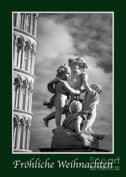 Weihnachten Photograph - Frohliche Weihnachten With Fountain Of Angels by Prints of Italy