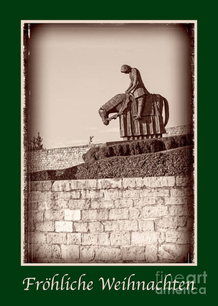 Weihnachten Photograph - Frohliche Weihnachten With St Francis by Prints of Italy