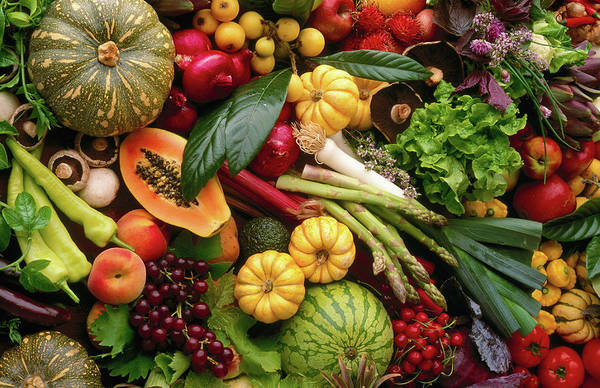 Food Photograph - Fruit And Vegetables Still Life by John Hay