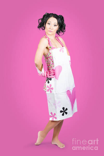 Wall Art - Photograph - Full Body Housewife Wearing Apron by Jorgo Photography - Wall Art Gallery