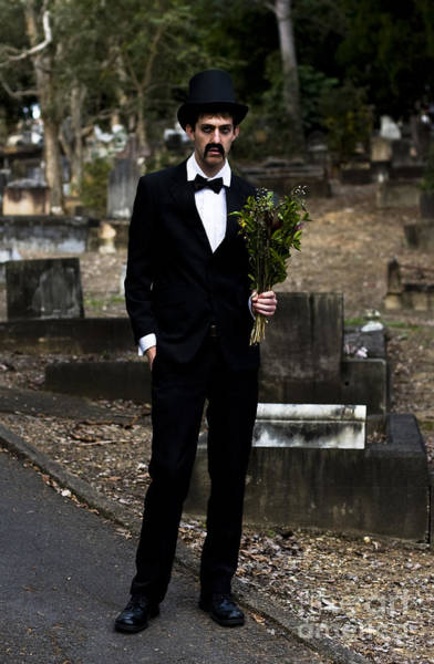 Grave Yard Photograph - Funeral Attendee by Jorgo Photography - Wall Art Gallery