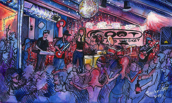 Painting - Funky Johnson At The Goat by David Sockrider