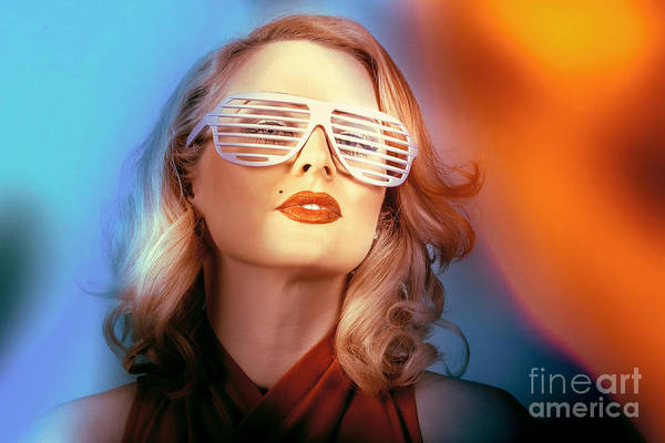 Wall Art - Photograph - Funky Pin-up Fashion Girl In Retro American Style by Jorgo Photography - Wall Art Gallery