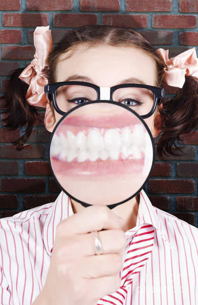 Wall Art - Photograph - Funny Dentist Showing White Teeth And Big Smile by Jorgo Photography - Wall Art Gallery