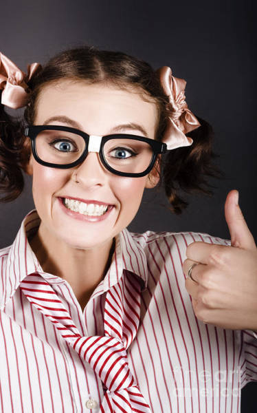 Fabulous Photograph - Funny Girl Showing Thumbs Up For All Is Good by Jorgo Photography - Wall Art Gallery
