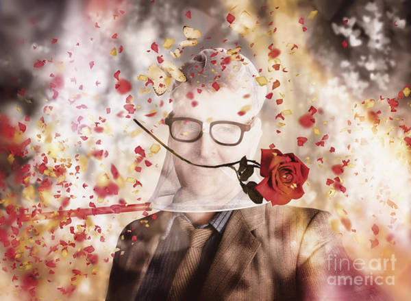 Photograph - Funny Valentine Nerd Caught In Net Of Romance  by Jorgo Photography - Wall Art Gallery