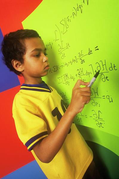 Equation Wall Art - Photograph - Future Physicist by David Hay Jones/science Photo Library