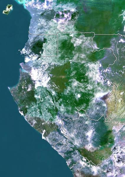 Equatorial Africa Wall Art - Photograph - Gabon by Planetobserver/science Photo Library
