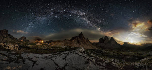 Wall Art - Photograph - Galaxy Dolomites by Ivan Pedretti
