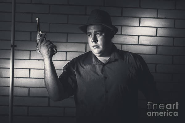 Photograph - Gangster Man Surrendering During Armed Holdup by Jorgo Photography - Wall Art Gallery