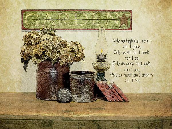Family Farm Painting - Garden by Jo Moulton