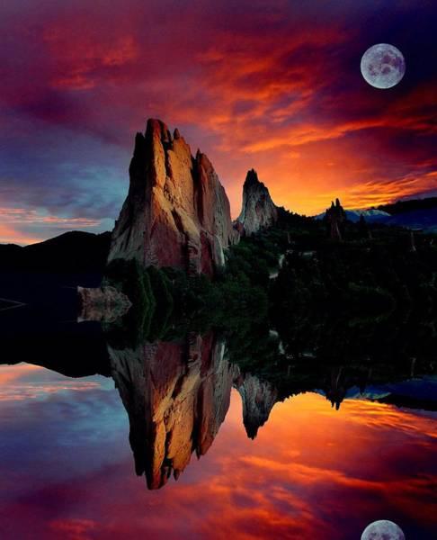 Manitou Springs Photograph - Garden Reflections by John Hoffman