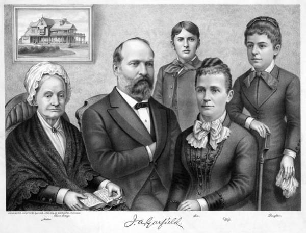 Wall Art - Painting - Garfield Family, C1881 by Granger